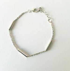 Classy Silpada Waters Edge 925 Silver Bracelet